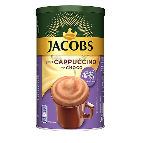 Jacobs Choco Cappuccino Instant Coffee with Milka Chocolate (500g)