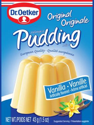 Dr. Oetker Original Vanilla Pudding Mix 1.5 oz (43g)