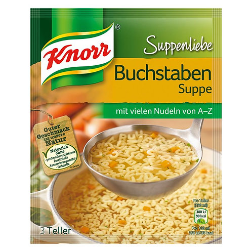 Knorr Alphabet Soup (Suppenliebe Buchstabensuppe) 2.9 oz (82g)
