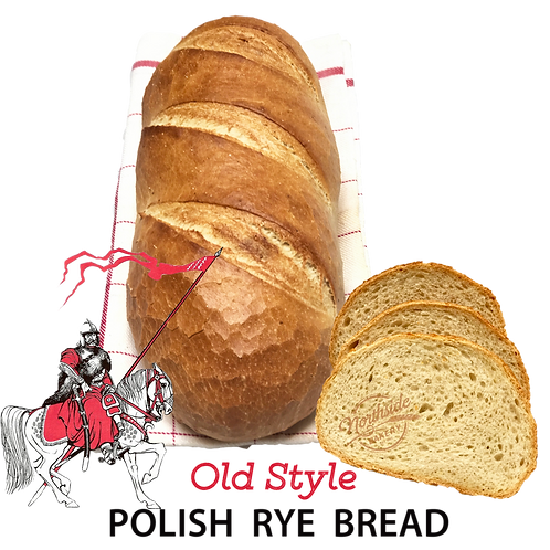 Artisan Old-Style Sliced Polish Rye Bread (2lbs)