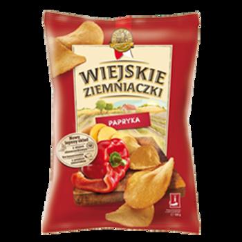Lorenz Pepper Potato Chips (Wiejskie Ziemniaczki Paprika) 4.6 oz (130g)