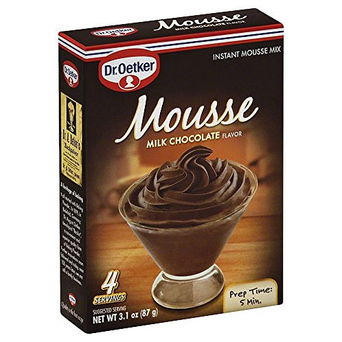 Dr. Oetker Mousse Milk Chocolate 4 servings 3.1 oz (89g)