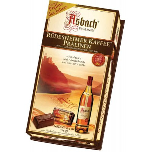 Asbach Dark Chocolate Pralines with Brandy and Coffee Infusion 4.4 oz (125g)