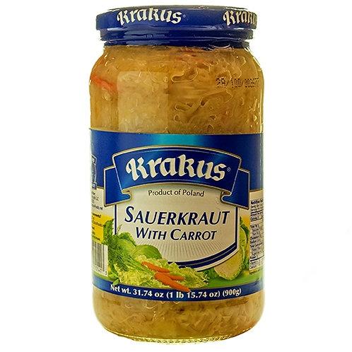 Krakus Sauerkraut with Carrot 31.7 oz (900g)