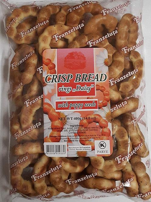 Franzeluta Crisp Bread Rings (Cушка, Баранки) with Poppy Seeds 14 oz (400g)