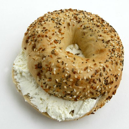 New York City Bagel with Plain Cream Cheese