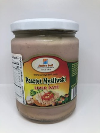 Pork Liver Pate In a Jar (Pasztet Mysliwski) 15 oz