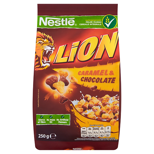 Nestle Lion Whole Grain Caramel & Chocolate Cereal 8.8 oz (250g)