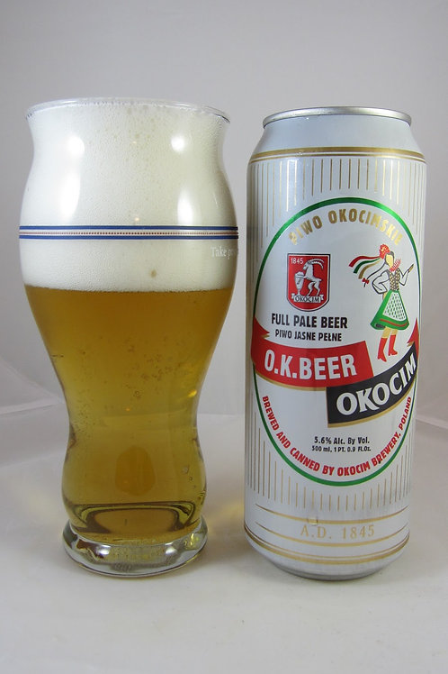 Browar Okocim O.K. Beer 4-pack (cans) 16.9 oz