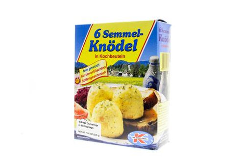 Dr. Willi Knoll 6 Bread Dumplings in Boiling Bags 7.05 oz (200g)