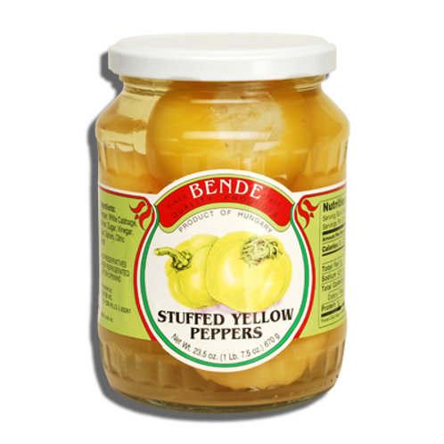 Bende Stuffed Yellow Peppers Jar 23.5 oz (670g)