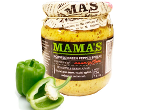 Mama's Roasted Green Pepper Spread 19 oz (540g)