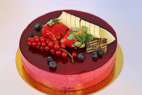 """Cassis Mousse Cake - 6"""" (serves 8)"""