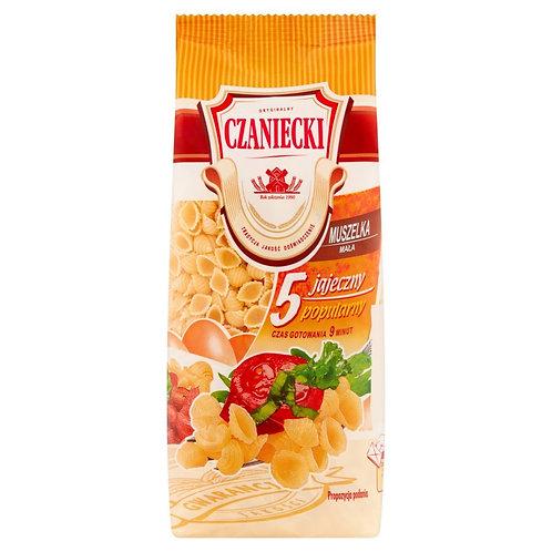 Czaniecki Makaron 5-Egg Shell Pasta (5 Jajeczny Muszelka) 8.8 oz (250g) Package