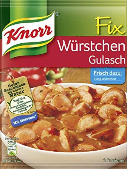 Knorr Fix für Würstchen (Sausage) Gulasch Mix 1.1 oz  (32g)