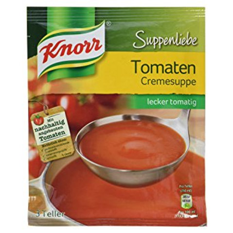 Knorr Tomato Cream Soup (Suppenliebe Tomatencremesuppe) 2.2 oz (62g)