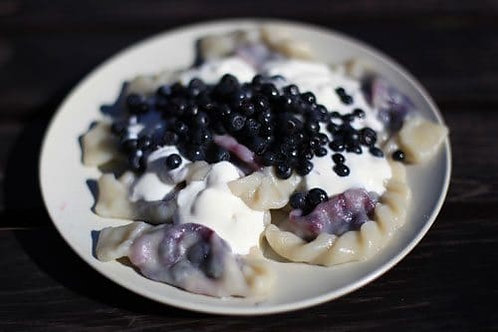 Polish Blueberry Pierogi 12-piece 6 oz (170g) Package