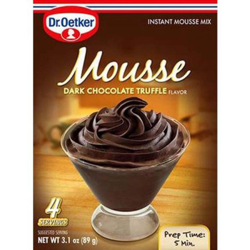 Dr. Oetker Mousse Dark Chocolate Truffle 4 servings 3.1 oz (89g)