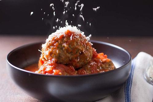 Gourmet Meatballs and Marinara Sauce