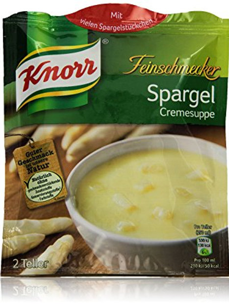 Knorr White Asparagus Cream Soup (Feinschmecker Spargelcreme Suppe) 1.9 oz (55g)