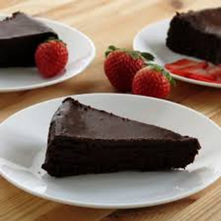 Flourless Belgian Chocolate Cake slice (on rotation)