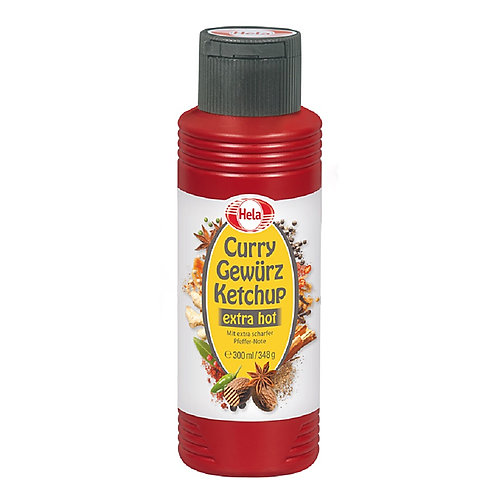 Hela Curry Gewürz Ketchup Extra Hot Black or Dark Red 12.3 oz (348g)