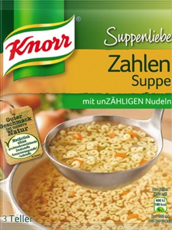 Knorr Numbers Soup (Suppenliebe Zahlensuppe) 3 oz (84g)
