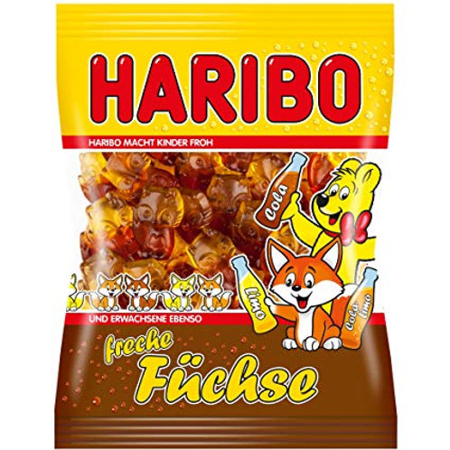 German Haribo Freche Füchse (Naughty Foxes) 7 oz (200g)