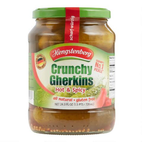 Hengstenberg Hot & Spicy Crunchy Gherkins 24.3 oz (720g)