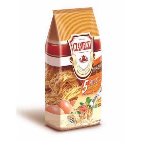 Czaniecki Makaron Swojski 5-Egg Noodle Pasta (Jajeczny Gniazdko) 17.6 oz (500g)