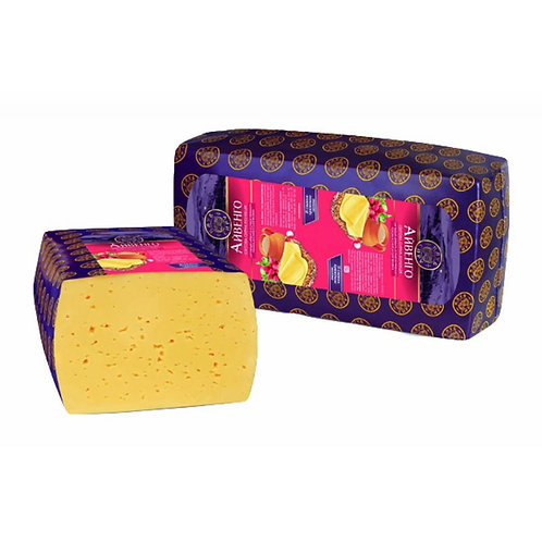Semi-Hard Cheese Ayvengo Ivanhoe with a baked milk flavor