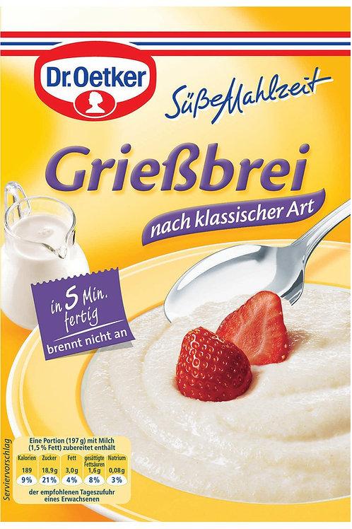 Dr. Oetker Grießbrei Klassische Art (Sweet Porridge) 3.3 oz (92g)