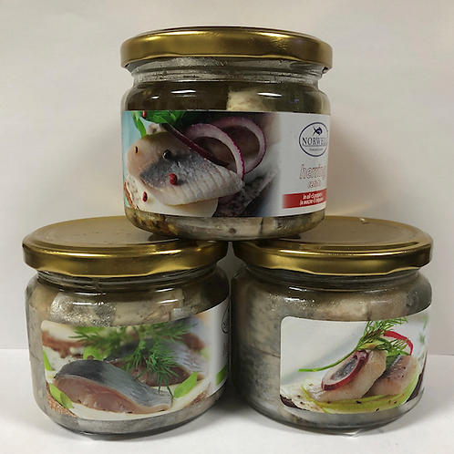 Norwell Herring Fillets with 5 Peppers 9.2 oz (260g)