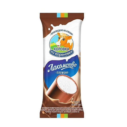 Korovka from Korenovka Plombir Vanilla in Chocolate Creamy Glaze (Trubochka)