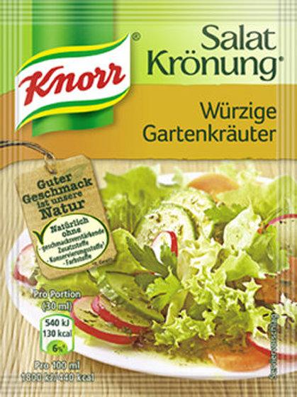 Knorr Salat Krönung Würzige Gartenkräuter (Spiced Herbs) Salad Mix  0.4 oz (10g)