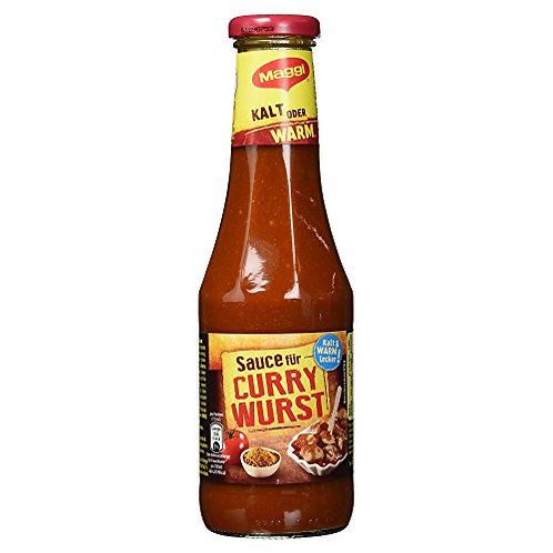 Maggi Sauce Bottle for German Currywurst (Curry Sausage) 16.9 oz (550g)
