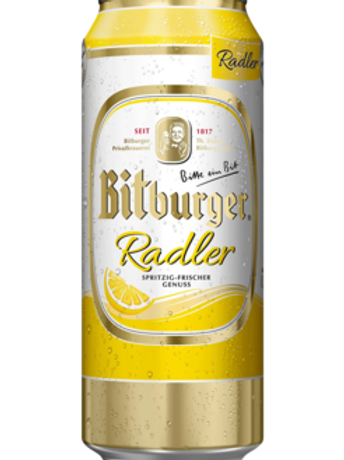 Bitburger Radler Cans 4-pack 16.9 oz (500ml)