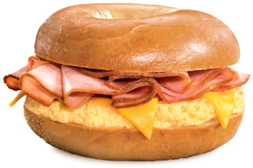 Ham, Egg, and Cheese on a New York Bagel