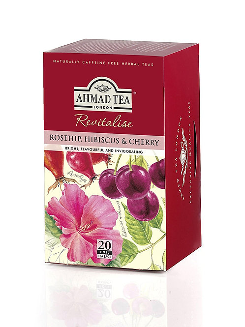 Ahmad Tea Rosehip, Hibiscus & Cherry Tea 1.4 oz (40g)