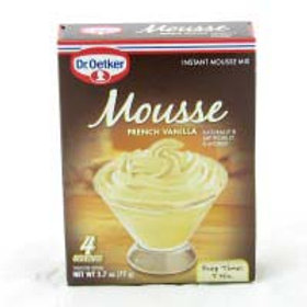 Dr. Oetker Mousse French Vanilla 4 servings 2.7 oz (77g)