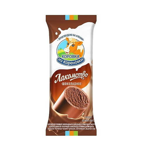 Korovka from Korenovka Chocolate in Chocolate Creamy Glaze (Trubochka)