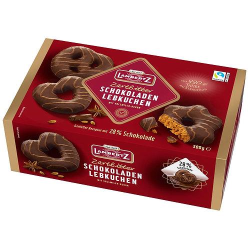 Henry Lambertz Schoko Lebkuchen Zartbitter (Dark Chocolate) 17.64 oz (500g)