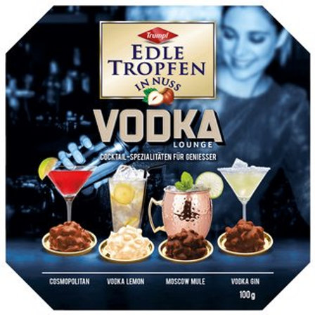 Trumpf Vodka Prailines (Edle Tropfen in Nuss Vodka Lounge) 3.5 oz (100g)