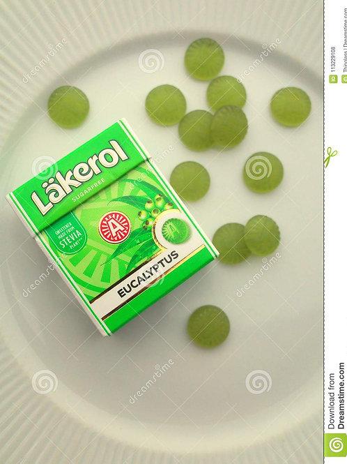Läkerol Eucalyptus Sugar-Free Fruity Pastilles Box 0.88 oz (25g)
