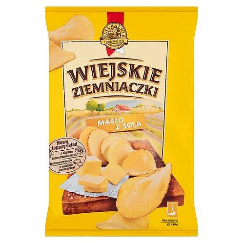 Lorenz Butter & Salt Potato Chips (Wiejskie Ziemniaczki Maslo Sol) 4.6 oz (130g)
