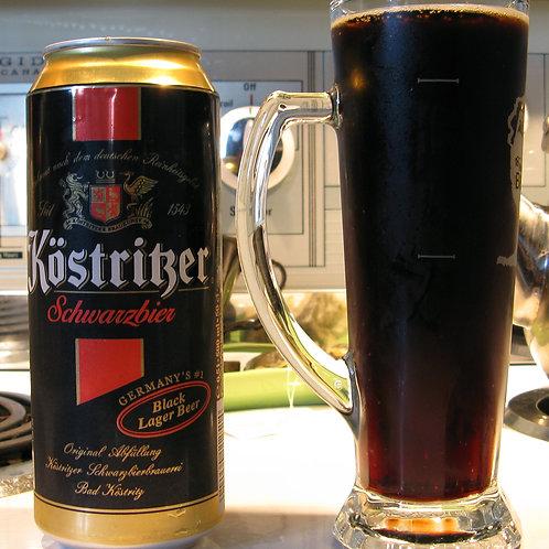 Köstritzer Schwarzbier (Black Lager) Cans 4-pack 16.9 oz (500ml)