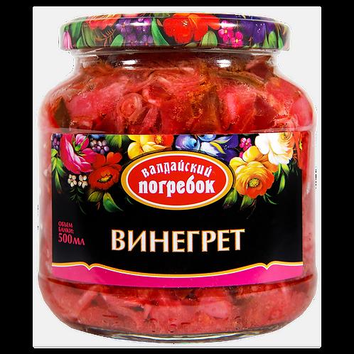 Valdayskiy Pogrebok Vegetable Appetizer Vinaigrette 17.6 oz (500g)