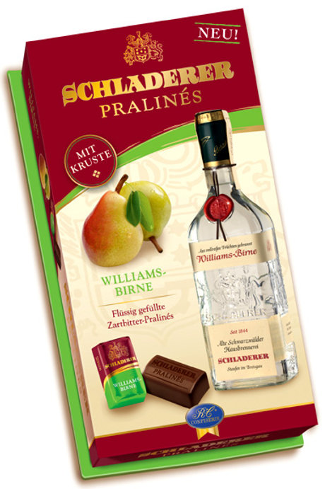 Schladerer Pralines – Williams Pear Brandy 4.5 oz (127g)