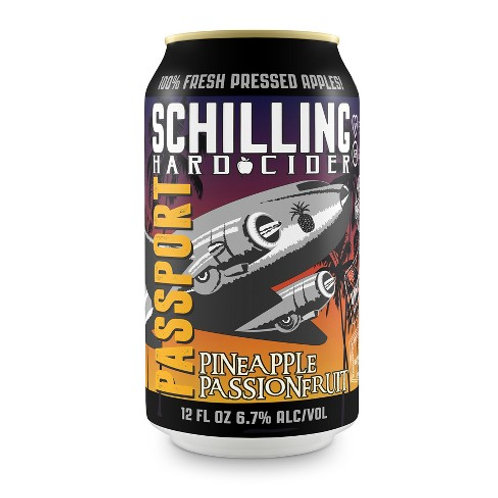 Schilling Pineapple Passionfruit Passport Cider 12 oz can
