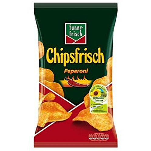 Funny Frisch Hot Pepper Chips (Chipsfrisch Peperoni) 6.2 oz (175g)